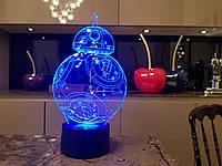 Детский ночник - светильник BB 8 3DTOYSLAMP, фото 1