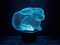 """Детский ночник - светильник """" Кролик 2"""" 3DTOYSLAMP"""