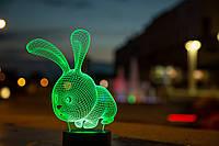 """Детский ночник - светильник """"Кролик"""" 3DTOYSLAMP, фото 1"""