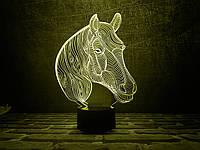 """Детский ночник - светильник """"Лошадка 2"""" 3DTOYSLAMP, фото 1"""