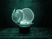 """Детский ночник - светильник """"Носорог"""" 3DTOYSLAMP, фото 1"""