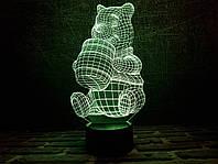 """Детский ночник - светильник """"Винни-Пух"""" 3DTOYSLAMP, фото 1"""