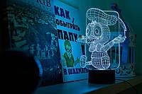 """Детский ночник - светильник """"Утенок"""" 3DTOYSLAMP, фото 1"""