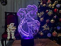 """Детский ночник - светильник """"Холодное сердце"""" 3DTOYSLAMP, фото 1"""