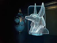 """Детский ночник - светильник """"Анубис"""" 3DTOYSLAMP, фото 1"""