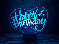"""Детский ночник - светильник """"С днем рождения"""" 3DTOYSLAMP, фото 1"""