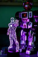 """Детский ночник - светильник """"Железный человек 1"""" 3DTOYSLAMP"""