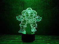 """Детский ночник - светильник """"Халк"""" 3DTOYSLAMP, фото 1"""