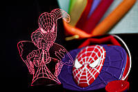 """Ночник - светильник детский """"Человек-паук"""" 3DTOYSLAMP"""