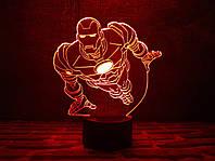 """Детский ночник - светильник """"Железный человек 2"""" 3DTOYSLAMP"""