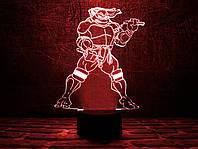 """Детский ночник - светильник """"Черепашка ниндзя 2"""" 3DTOYSLAMP, фото 1"""