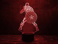 """Детский ночник - светильник """"Капитан Америка 2"""" 3DTOYSLAMP, фото 1"""