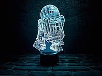 """Детский ночник - светильник """"R2D2"""" 3DTOYSLAMP"""