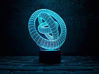 """Детский ночник - светильник """"Кольца"""" 3DTOYSLAMP, фото 1"""