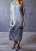 Платье  с декором «Мост»
