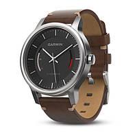 Смарт-часы Garmin Vivomove Premium Gold-Tone Steel with Leather Band