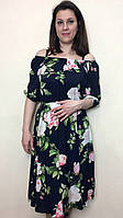 Платье миди-клёш,  на резинках П231, фото 1