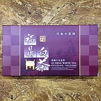 Белый пуэр (белый выдержанный чай) прессованный в виде шоколадной плитки 100 грамм