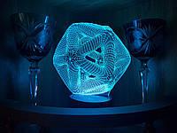 """Детский ночник - светильник """"Икосаэдр"""" 3DTOYSLAMP, фото 1"""