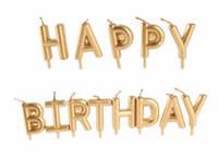 "Набор свечей в торт "" Happy birthday"",  золото"