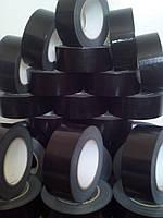 Армированная лента клейкая черная 48мм/50м