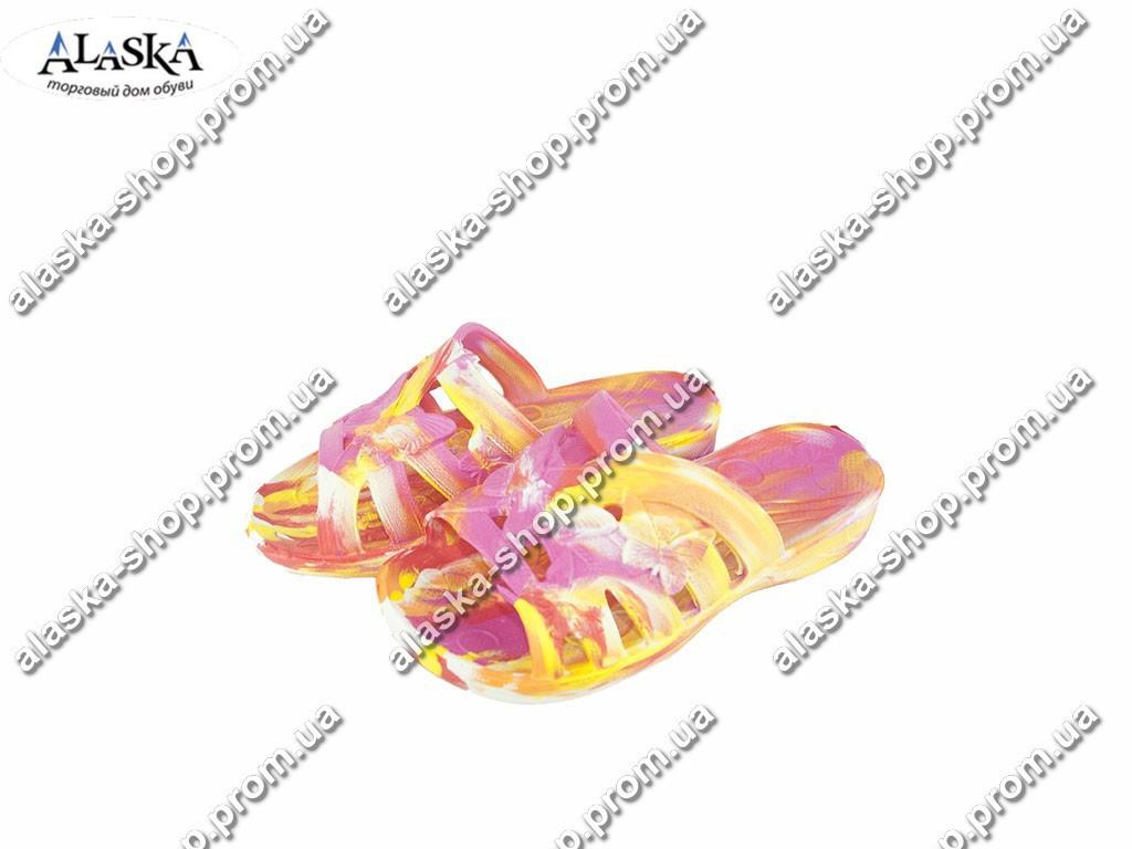 Подростковые шлепанцы (Код: С-35 Крок папугаи оранж )