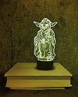 """Детский ночник - светильник """"Йода"""" 3DTOYSLAMP, фото 1"""