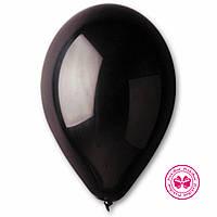 Круглый Латексный Воздушный Шарик 12 Пастель Черный