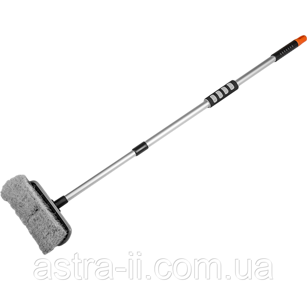 """Щетка для мытья 8"""" с телескопической ручкой 80-130 см, ES2072"""