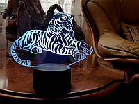 """Детский ночник - светильник ночник """"Тигр"""" 3DTOYSLAMP, фото 1"""