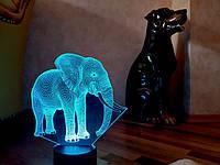 """Детский ночник - светильник """"Слон 2"""" 3DTOYSLAMP, фото 1"""