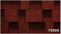 Битумная гибкая черепица, Kerabit  Керабит, коллекция Квадро, цвет Красно-черный