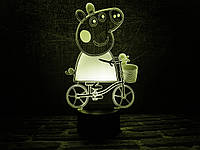 """Детский ночник - светильник """"Свинка Пэппа"""" 3DTOYSLAMP"""