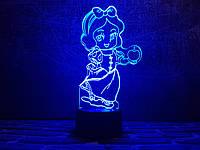"""Детский ночник - светильник """"Белоснежка 2"""" 3DTOYSLAMP, фото 1"""