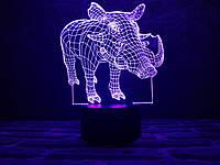 """Детский ночник - светильник """"Пумба"""" 3DTOYSLAMP, фото 1"""