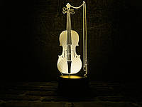 """Детский ночник - светильник """"Скрипка"""" 3DTOYSLAMP, фото 1"""