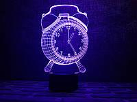 """Детский ночник - светильник """"Будильник"""" 3DTOYSLAMP, фото 1"""