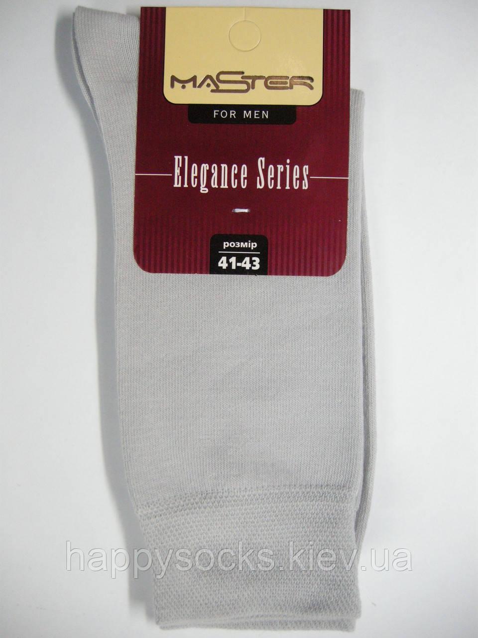 Классические высокие светло-серые носки  для мужчин