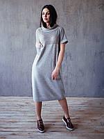 Платье с прозрачными серебристыми полосками