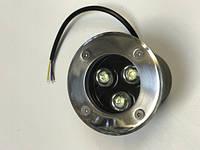 Светодиодный тротуарный линзованный светильник LM986 3W 6500K IP65 220V Код.58898