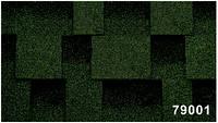 Битумная гибкая черепица, Kerabit  Керабит, коллекция Квадро, цвет зелено-черный