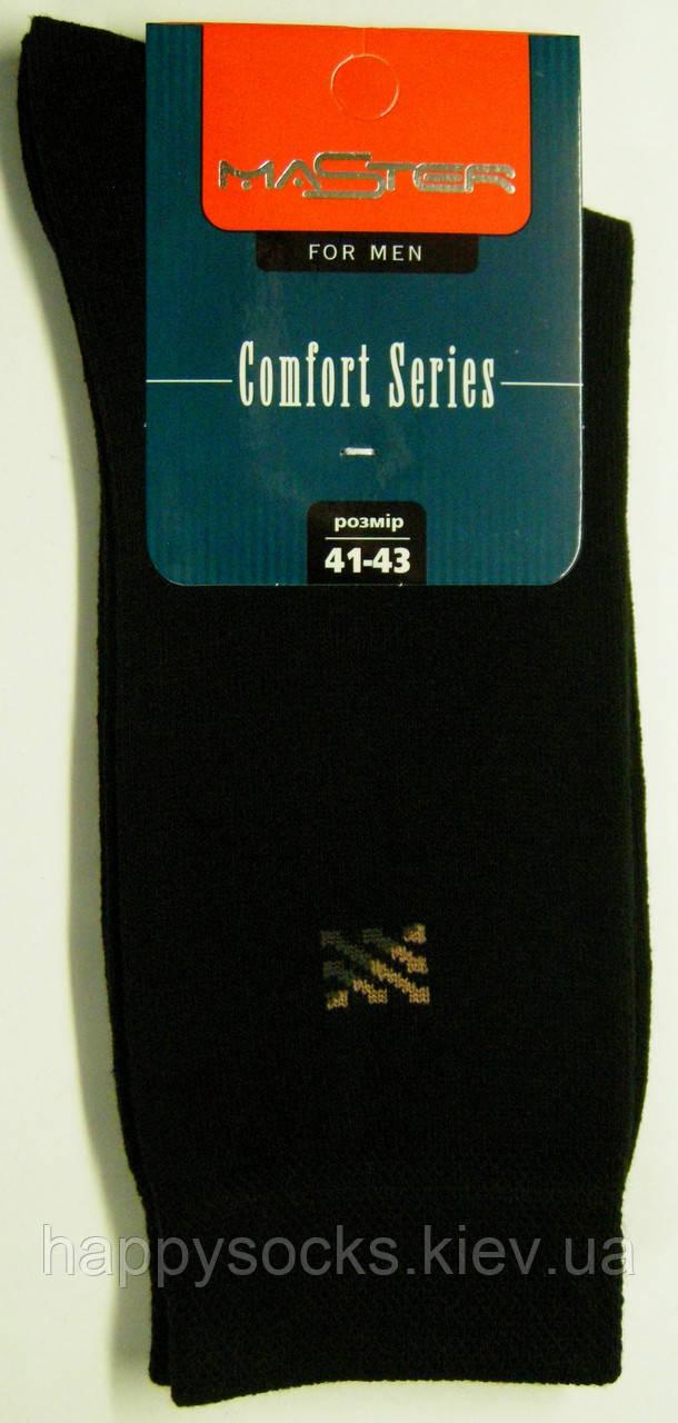 Высокие мужские носки черного цвета с рисунком