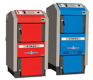 Пиролизные котлы Атмос для сжигания дерева, и отходов деревообработки 18-100 кВт