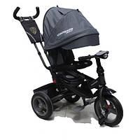 AZIMUT CROSSER T-400 TRINITY ECO AIR детский трехколесный велосипед серый