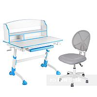 Комплект детская парта для школьника Volare II Blue + детское кресло для школьника LST1 Grey FunDesk