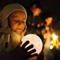 """Детский ночник - светильник """"Луна"""" 12 см"""