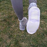 Водонепроницаемые антискользящие чехлы L белые krocs rain boot резиновые сапоги дождевики на обувь драйстеппер