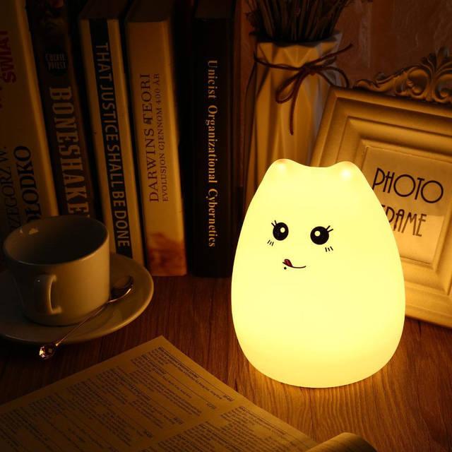 """Детский ночник — светильник """" Веселый котенок"""" 3DTOYSLAMP, фото 3"""