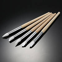Кисти силиконовые для ногтей набор 5 шт