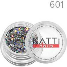 KATTi Блестки в баночке 040 LGS-601 серебристые мульти-перелив голографические